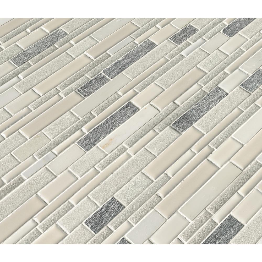 MS International Everest Interlocking 12 in. x 12 in. x 8 mm Porcelain and Stone Mesh-Mounted Mosaic Tile (10 Sheets) - Free Shipping