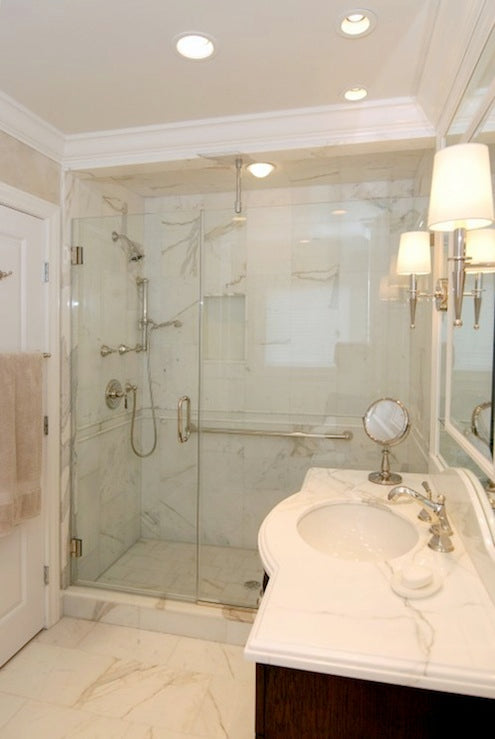 Calacatta Gold Italian Marble 12x12 Tile For Bathroom And Kitchen Wall Tenedos