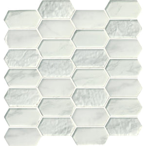 MSI Calypso Picket 12 in. x 12 in. x 8mm Glass Mesh-Mounted Mosaic Tile