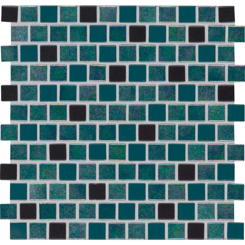 MSI Carribean Mermaid 11.81 in. x 11.81 in. x 4mm Glass Mesh-Mounted Mosaic Tile (19.4 sq. ft. / case)