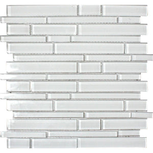 Ice Interlocking 12 in. x 12 in. x 8mm Glass Mesh-Mounted Mosaic Tile (10 sq. ft. / case)