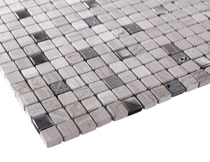 Grey Luxury Square Pebble Stone Mosaic Tiles