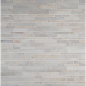 MS International Greecian White Interlocking 12 in. x 12 in. x 10 mm Polished Marble Mesh-Mounted Mosaic Tile