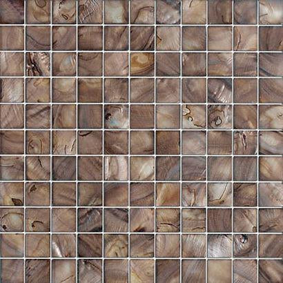 Vintage Brown Mother of Pearl Mosaic Tiles - Free Shipping