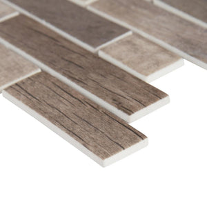 MSI Driftwood Interlocking 12 in. x 12 in. x 6mm Glass Mesh-Mounted Mosaic Tile