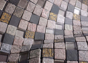 Glossy and Matte Egyptian Rock Square Stones Porcelain Mosaic Tiles