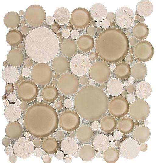Glazzio Tiles Bubble Full Sheets Sable Brown 12 x 12 Sheet BFS201