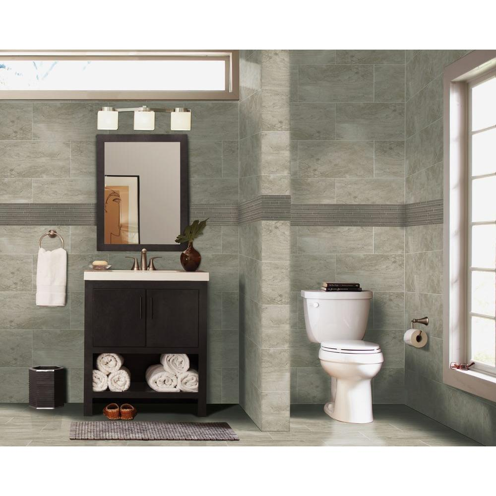 MS International Trevi Gris 12 in. x 24 in. Glazed Porcelain Floor and Wall Tile (16 sq. ft. / case)