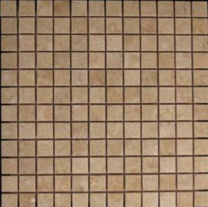 Crema Marfil Marble 1x1 Mosaic Tile Polished