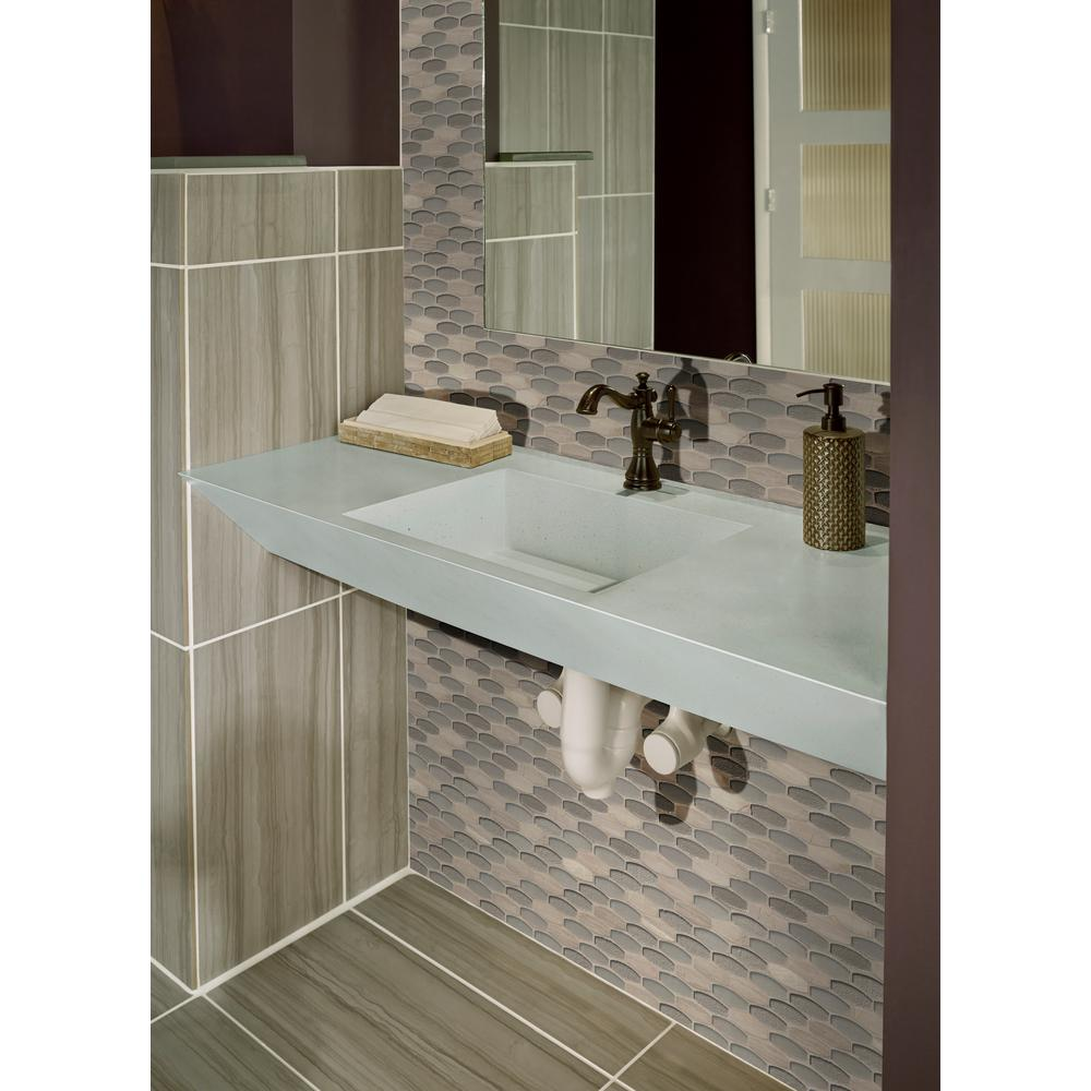MSI Ellipse Gris 12 in. x 12 in. x 8mm Glass Stone Mesh-Mounted Mosaic Tile