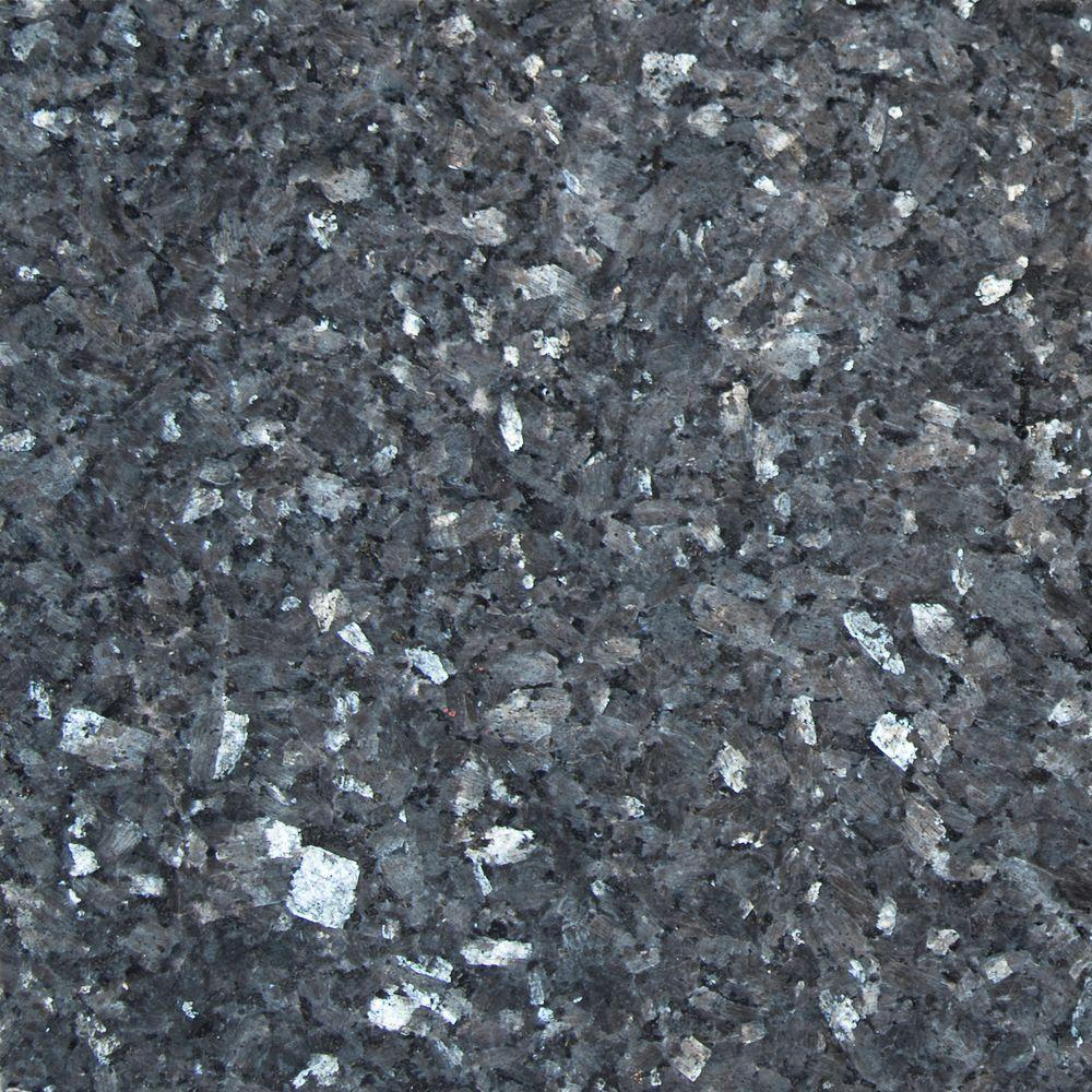 Blue Pearl 12 in. x 12 in. Polished Granite Wall Tile - Free Shipping