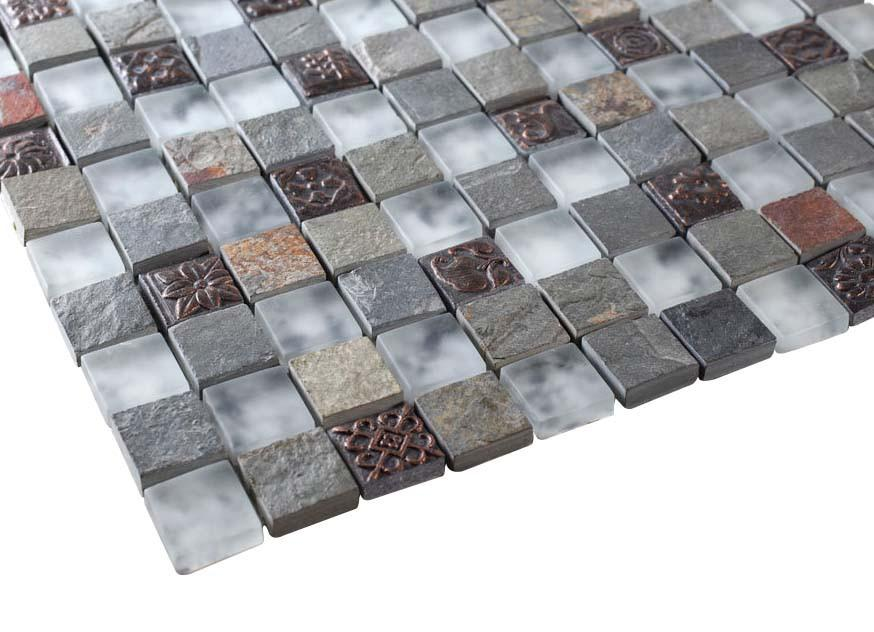 Glossy and Matte Nature Rock Square Stones Porcelain Mosaic Tiles