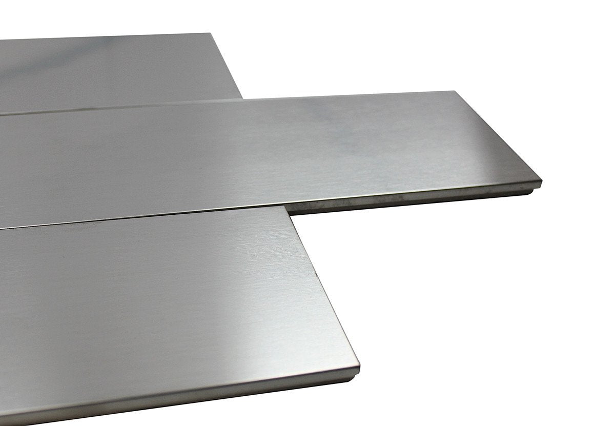 3x9 STAINLESS STEEL SILVER MATTE BRUSHED SUBWAY TILES