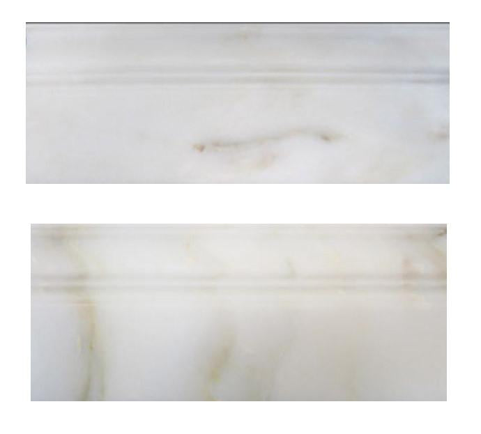 "Calacatta Gold Italian Marble 3/4"" Baseboard Molding Honed for Bathroom and Kitchen Walls Kitchen Backsplashes (Free Shipping)"