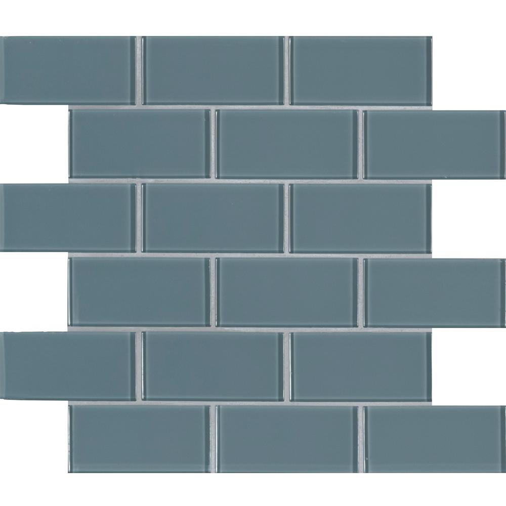MSI Harbor Gray 11.81 in. x 11.81 in. x 8mm Glass Mesh-Mounted Mosaic Tile (9.70 sq. ft. / case)