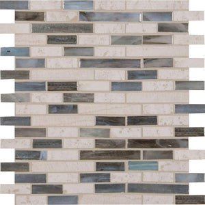 MSI Kaledo Interlocking 12 in. x 12 in. x 6mm Glass and Stone Mesh-Mounted Mosaic Tile (15 sq. ft. / case)
