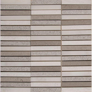 MSI Linea 12 in. x 12 in. x 10mm Stone Mesh-Mounted Mosaic Tile (10 sq. ft. / case)