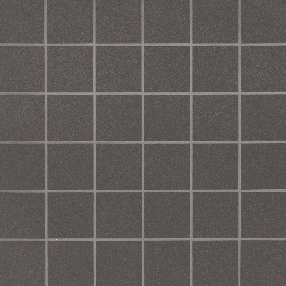 MSI Optima Graphite 12 in. x 12 in. x 10mm Matte Porcelain Mesh-Mounted Mosaic Tile (11 sq. ft. / case)