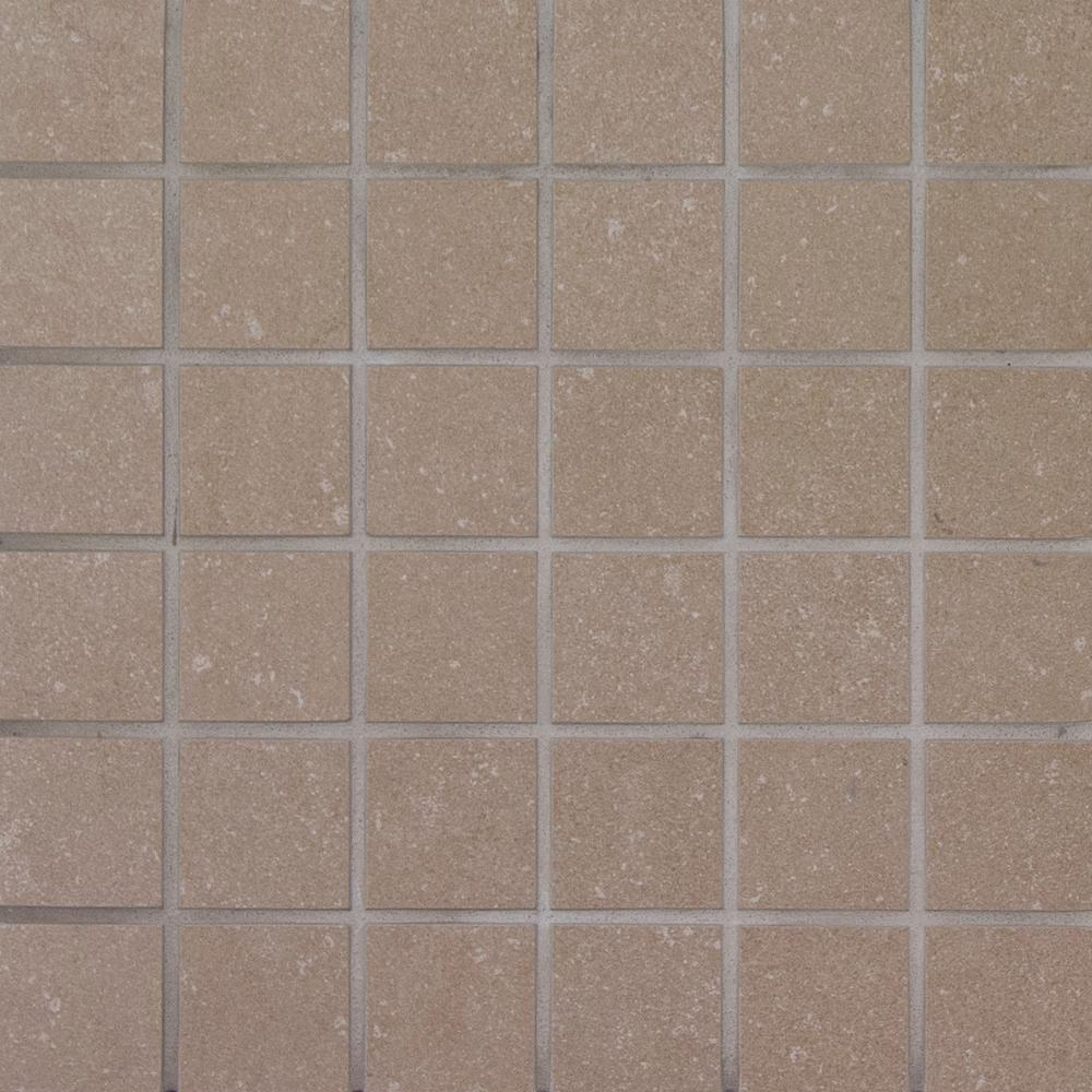 MSI Beton Olive 12 in. x 12 in. x 10 mm Porcelain Mesh-Mounted Mosaic Tile (8 sq. ft. / case)