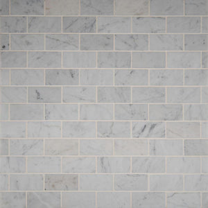 MSI Carrara White 12 in. x 12 in. x 10mm Polished Marble Mesh-Mounted Mosaic Floor and Wall Tile (10 sq. ft. / case)