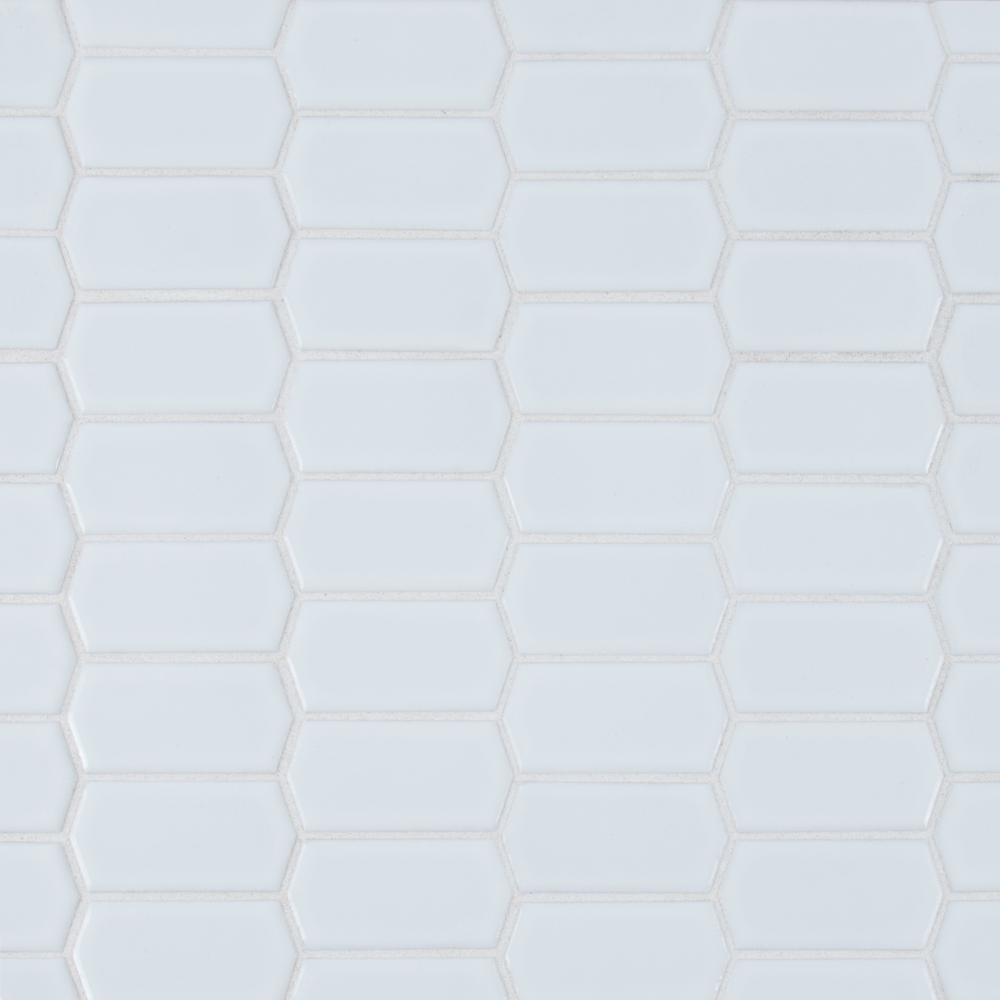 MSI Retro Picket Bianco Porcelain Mesh-Mounted Mosaic Tile - Free Shipping