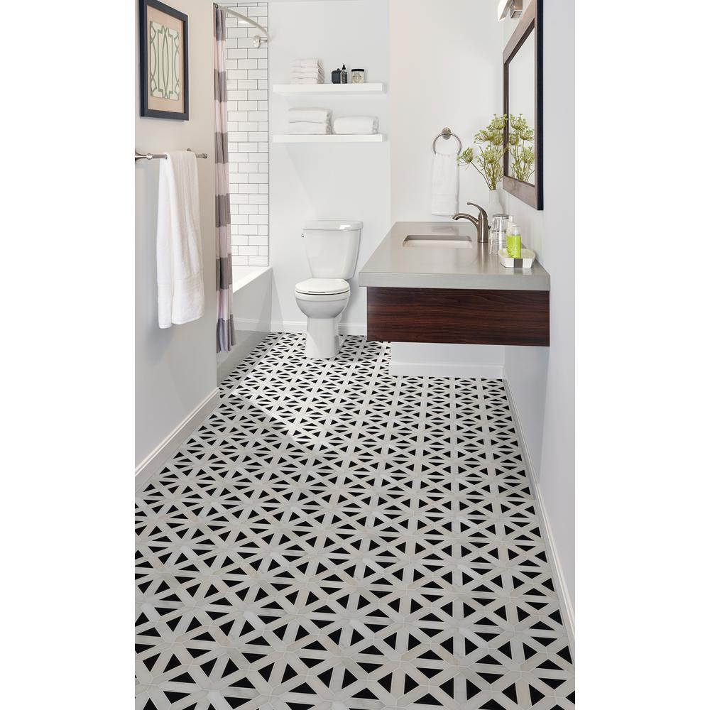 MSI Retro Fretwork 12x12 Polished Marble Mosaic Tile (10 Sheets / case) Floor and Wall Tile- Free Shipping