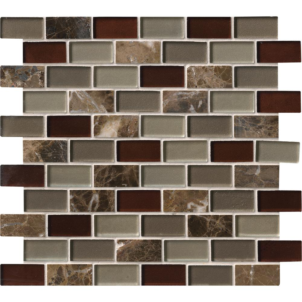 MSI Royal Canyon 12 in. x 12 in. x 8mm Glass Stone Mesh-Mounted Mosaic Tile (10 sq. ft. / case)
