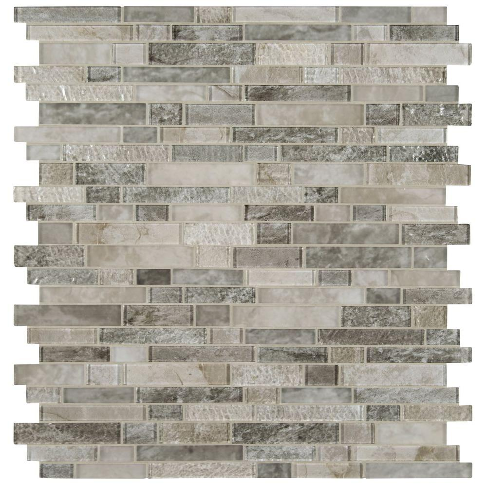 MSI Savoy Interlocking 12 in. x 12 in. x 8mm Glass Mesh-Mounted Mosaic Tile
