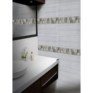 MSI Savoy Picket Pattern 12 in. x 12 in. x 8mm Glass Mesh-Mounted Mosaic Tile - Free Shipping