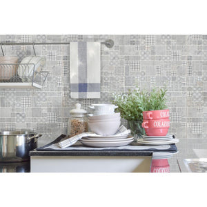 MSI Tetris Blanco Pattern 11.81 in. x 11.81 in. x 10mm Honed Marble Mesh-Mounted Mosaic Tile (9.7 sq. ft. / case)