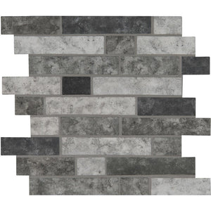 MSI Urban Tapestry Interlocking 11.81 in. x 11.81 in. x 6 mm Glass Mesh-Mounted Mosaic Tile - Free Shipping
