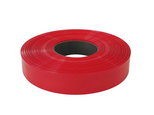 Pie de tubo de PVC termoencogible, ancho plano de 20mm.  Color rojo – HS-20R