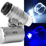Microscopio con zoom de 60x, luz led UV y blanca – 9882