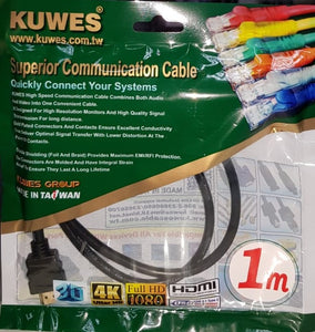 Cable HDMI ultra HD 4K de 1 Metro de longitud – Kuwes HDMI-01A-1.0