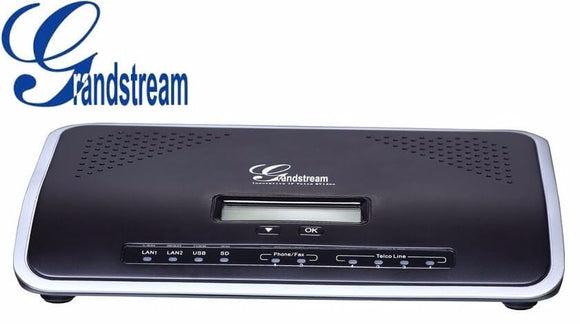 Central IP, soporta 500 usuarios, 45 llamadas concurrentes, 2 FXS, 4 FXO, 2 Gigabit con PoE+ integrado – UCM6204 Grandstream