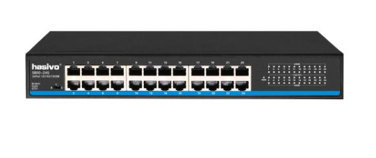 Switch gigabit de 24 puertos, VLAN / CCTV – S800-24G hasivo