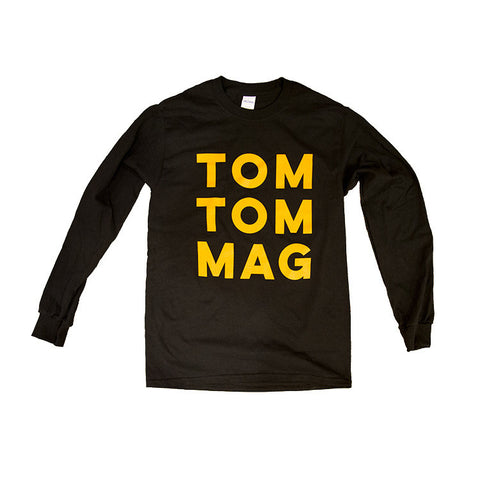 Old School Block Letter Long Sleeve Tee - Drummers | Music | Feminism: Shop Tom Tom