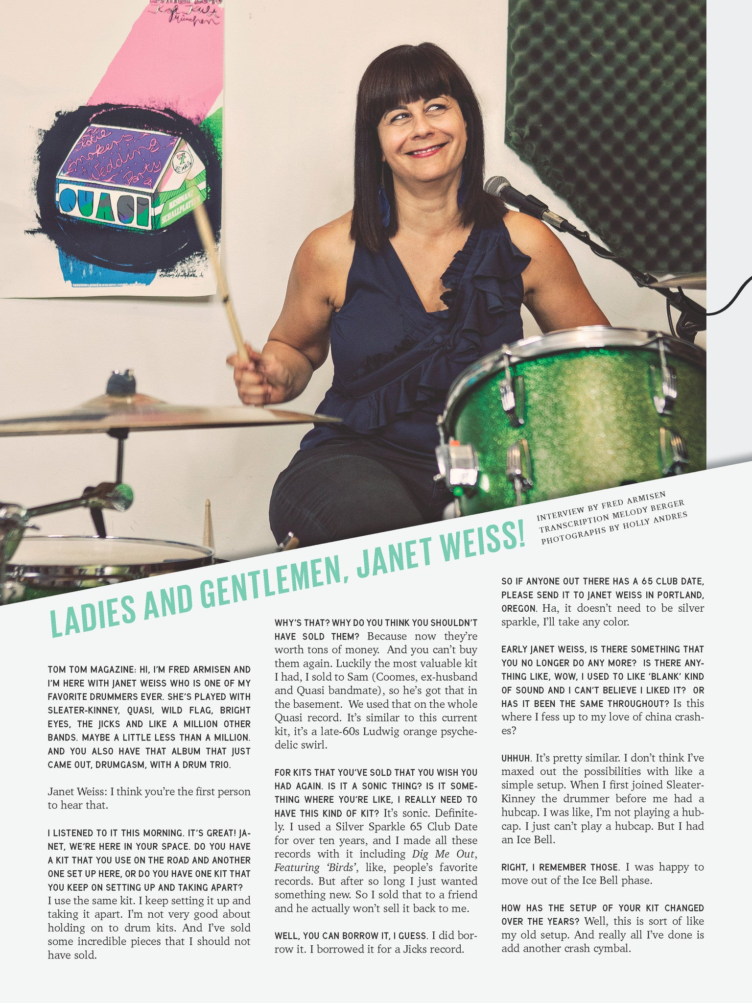 Tom Tom Magazine Issue 15: Drummers Who Sing - Drummers | Music | Feminism: Shop Tom Tom