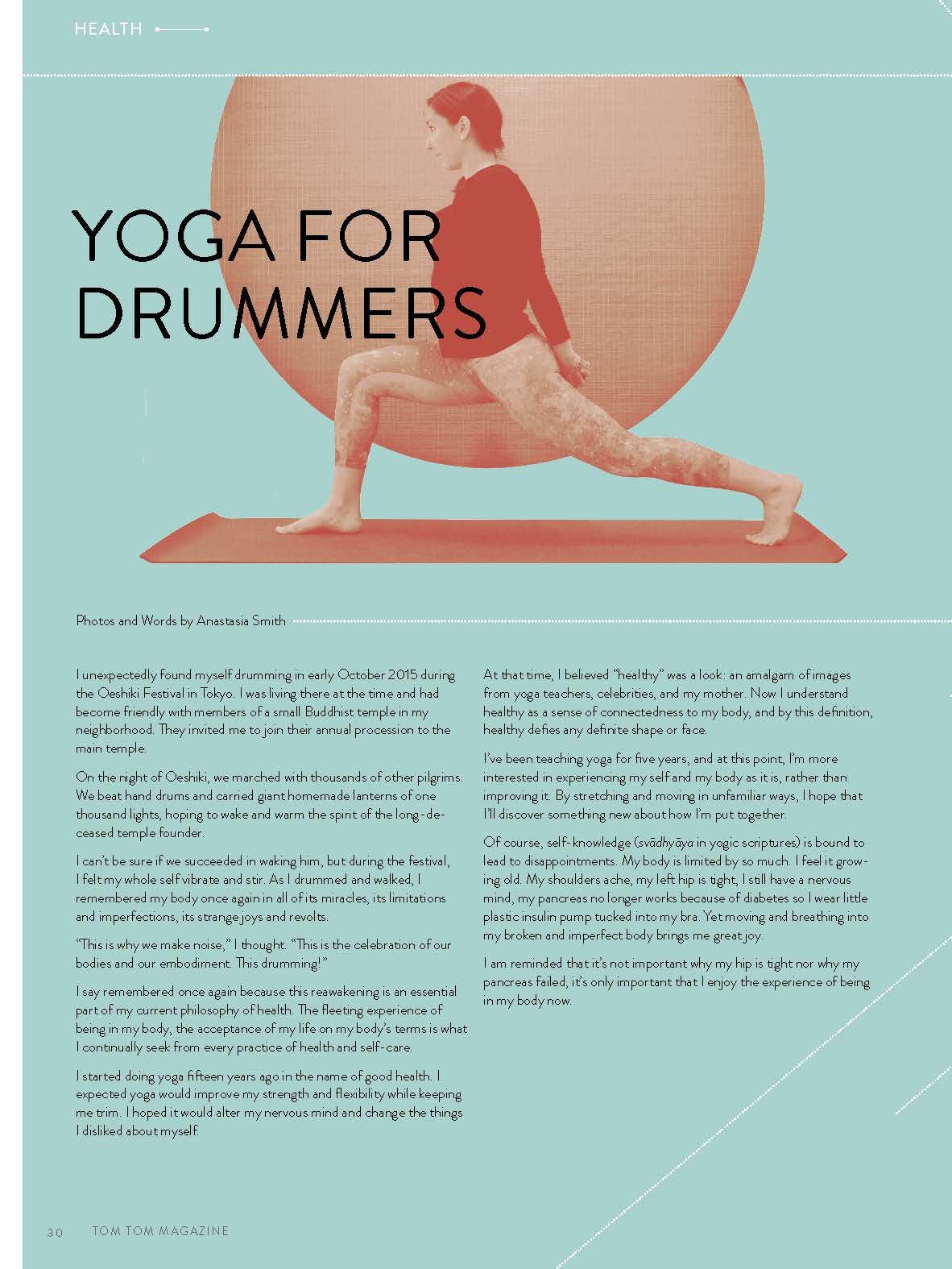 Tom Tom Magazine Issue 25: HEALTH - Drummers | Music | Feminism: Shop Tom Tom