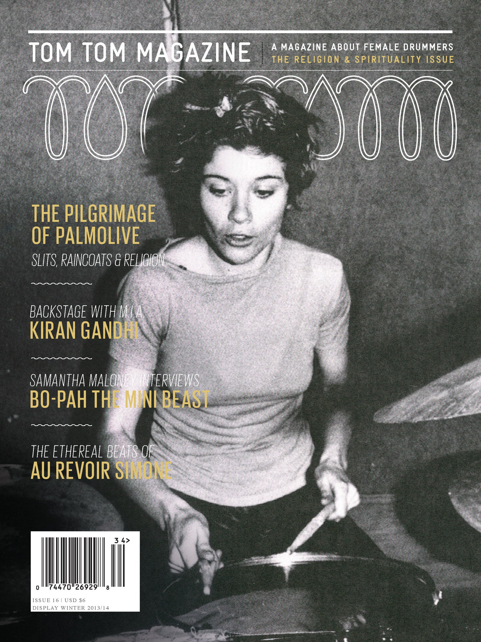 Tom Tom Magazine Issue 16: Religion and Spirituality - Drummers | Music | Feminism: Shop Tom Tom