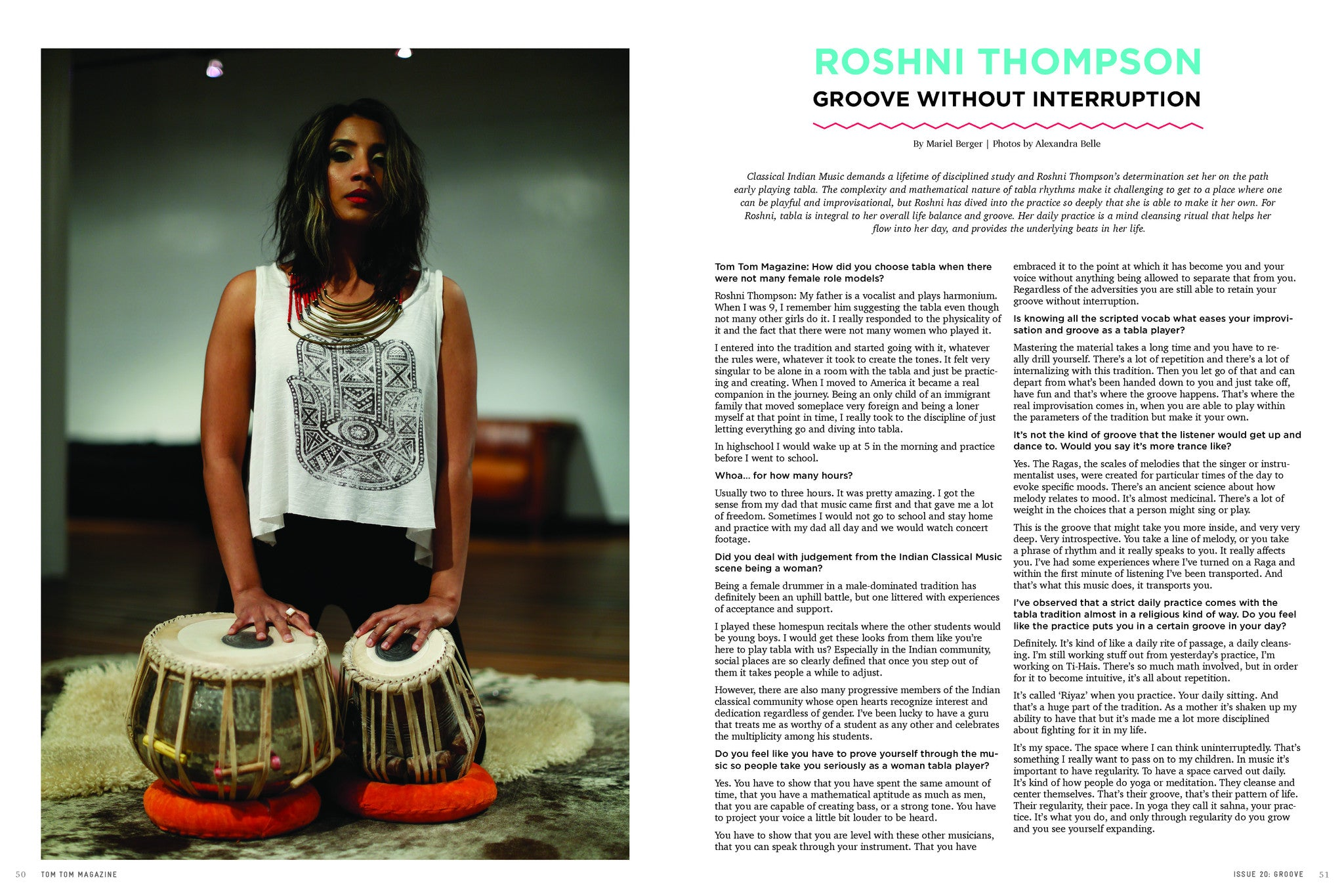 Tom Tom Magazine Issue 20: Groove - Drummers | Music | Feminism: Shop Tom Tom