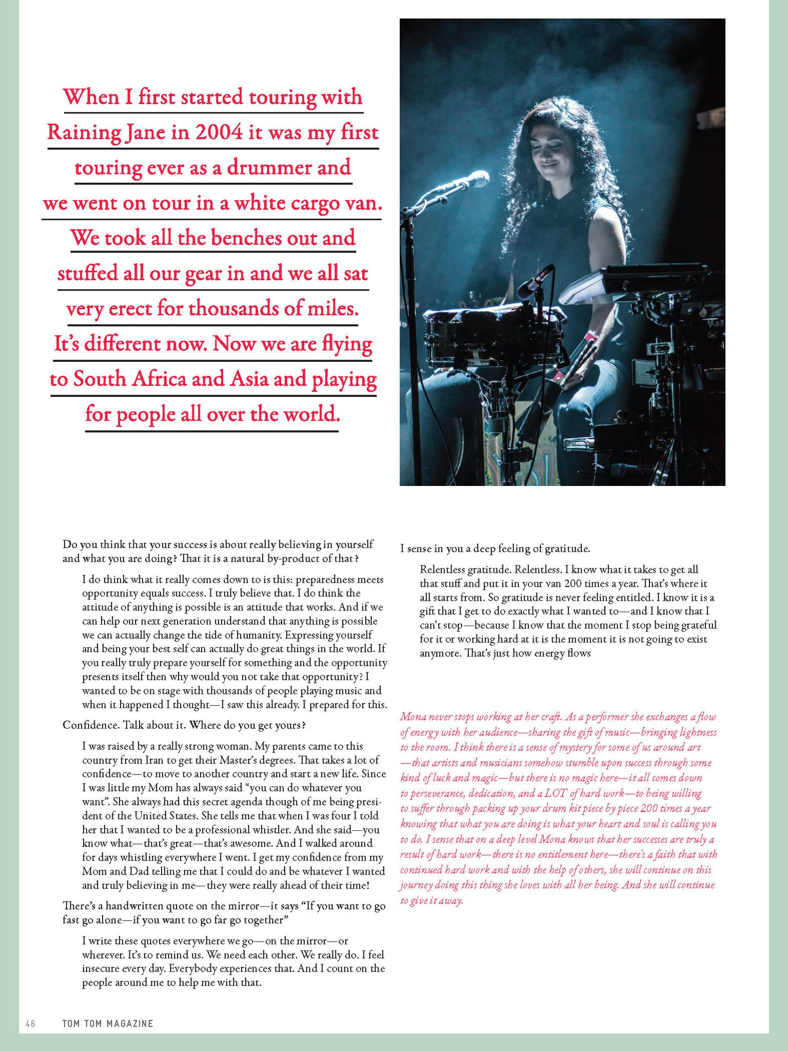 Tom Tom Magazine Issue 22:  The Touring Issue - Drummers | Music | Feminism: Shop Tom Tom
