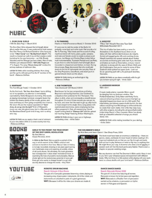 Tom Tom Magazine Issue 5: The LA Issue - Drummers | Music | Feminism: Shop Tom Tom