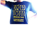 Tom Tom Magazine T-Shirt Black with Yellow Print - Drummers | Music | Feminism: Shop Tom Tom