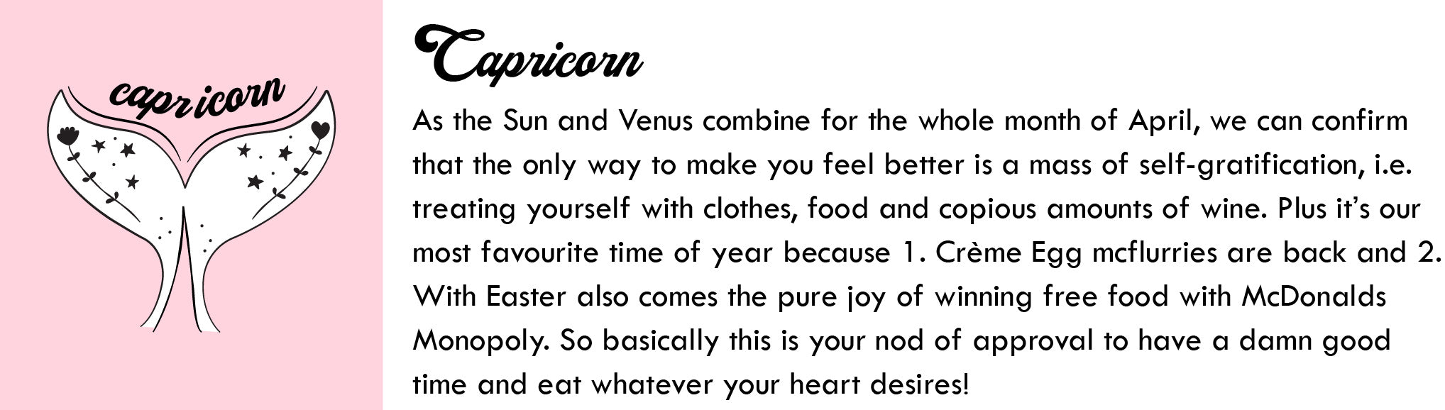 Capricorn April Horoscope | Blog | Skinnydip London