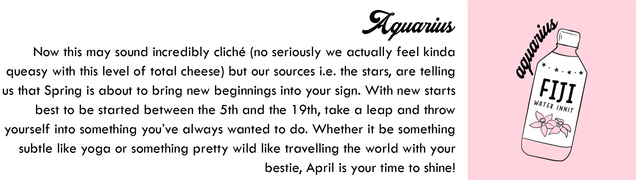 Aquarius April Horoscope | Blog | Skinnydip London