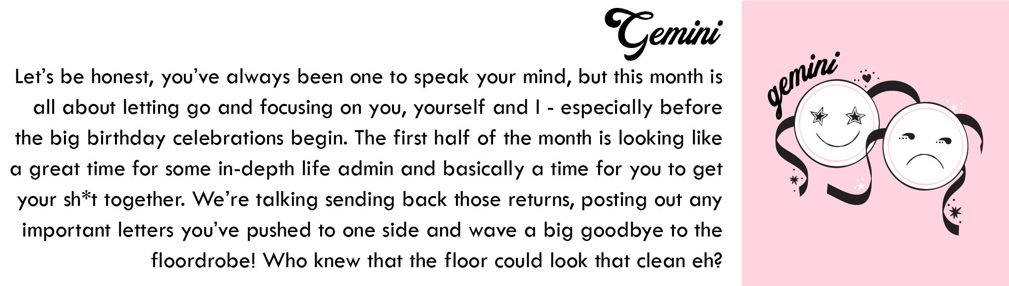 Gemini April Horoscope | Blog | Skinnydip London