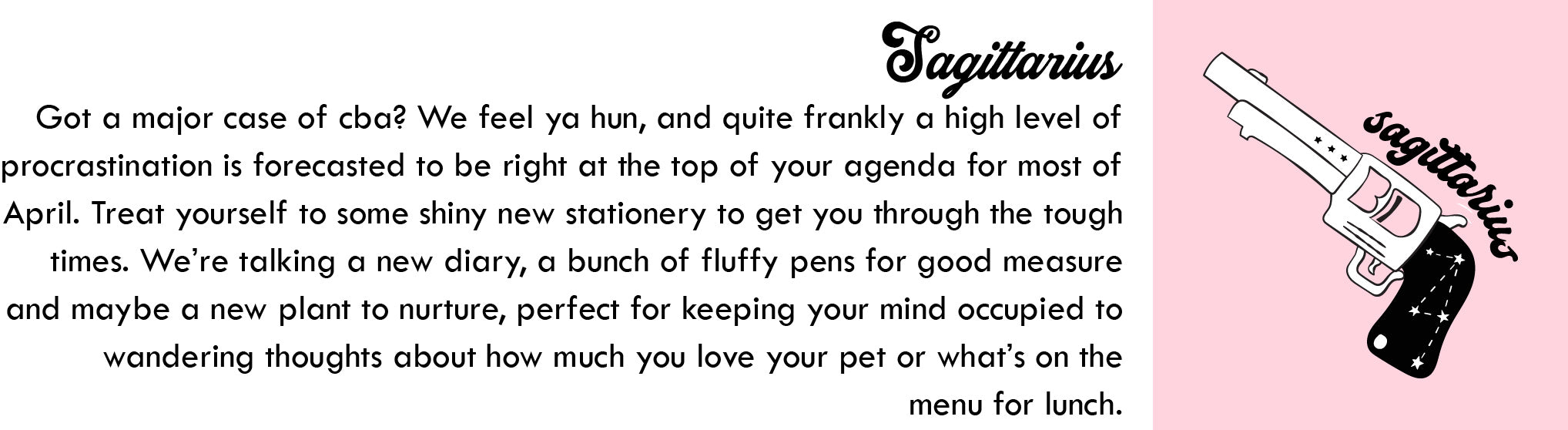 Sagittarius April Horoscope | Blog | Skinnydip London