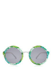 palm print retro sunglasses
