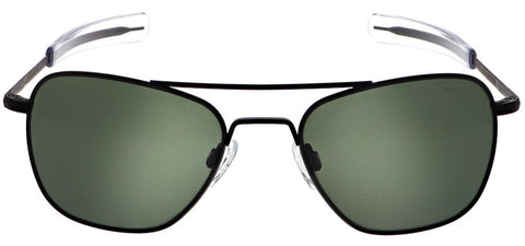 Randolph Aviator AF069 Matte Black / AGX size 55mm Polarized: Featured Product Image